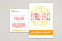 Illustrative Spring Sale Postcard Template