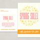 Illustrative Spring Sale Postcard Template