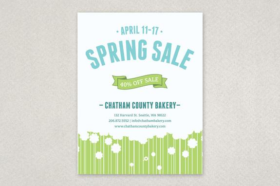 Spring flowers sale flyer template inkd spring flowers sale flyer template mightylinksfo
