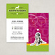 Cute Pet Adoption Business Card Template