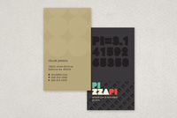 Pizza Pi Restaurant Business Card Template