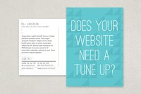Web Analyst Postcard Template