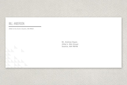 Web Analyst Envelope Template