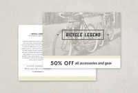 Bike Shop Postcard Template