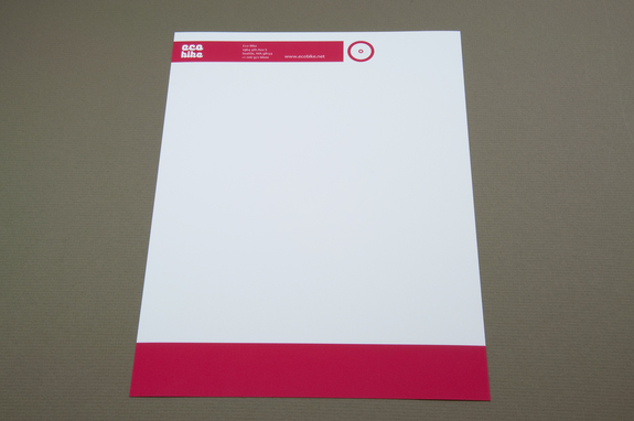 modern bike messenger letterhead template