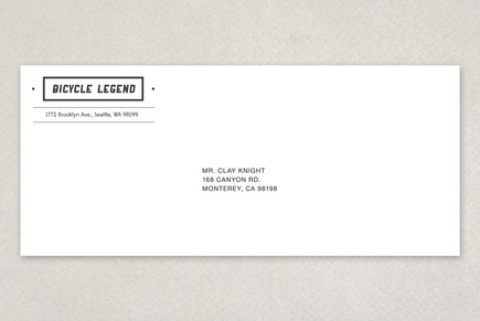 Bike Shop Envelope Template