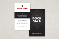 Rockstar Music Store Business Card Template