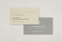 Chiropractic Practice Business Card Template