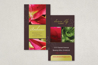 Elegant Florist Business Card Template