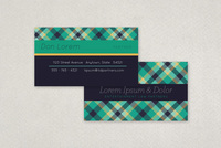 Plaid Law Firm Business Card Template