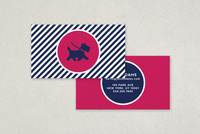 Chic Dog Trainer Business Card Template