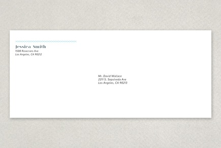 Personable Blogger Envelope Template