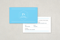 Personable Blogger Business Card Template