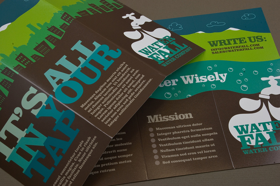 Graphic Water Company Brochure Template | Inkd