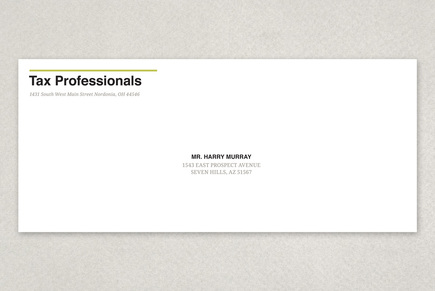 Tax Agent Envelope Template