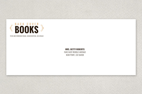 Vintage Bookstore Envelope Template  Inkd