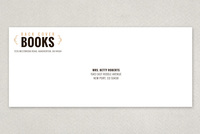 Vintage Bookstore Envelope Template