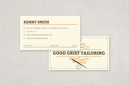 Professional Tailoring Business Card Template | Inkd