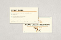 Professional Tailoring Business Card Template