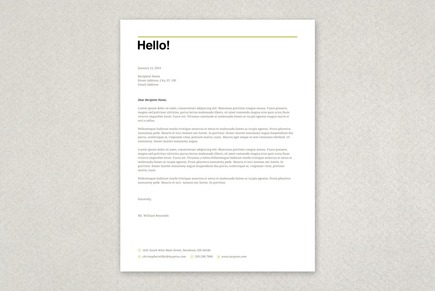 Friendly Tax Agent Letterhead Template  Business Letterhead Samples