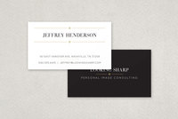 Classy Stylist Business Card  Template