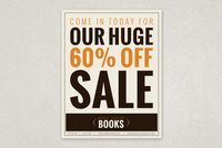 Bold Bookstore Sale Flyer Template