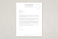 Quality Seal Letterhead Template