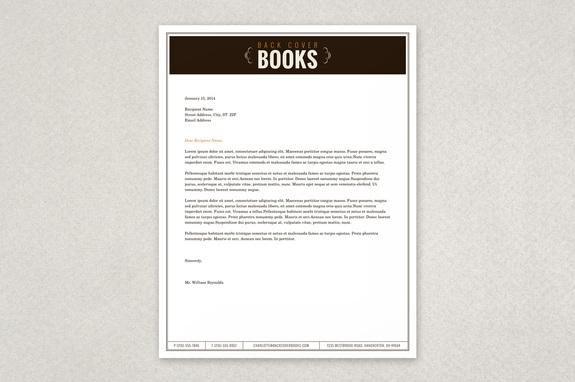 Vintage bookstore letterhead template inkd vintage bookstore letterhead template spiritdancerdesigns Choice Image