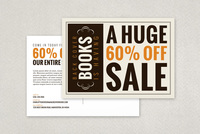 Bold Bookstore Sale Postcard Template