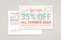 Hip Surf Shop Postcard Template