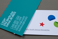 Contemporary Youth Group Business Card Template