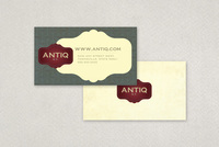 Antique Furniture Business Card  Template