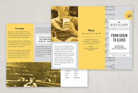 Upscale Bar Brochure Template