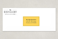 Upscale Bar Envelope Template