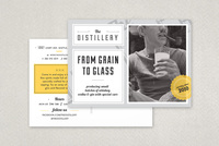 Upscale Bar Postcard Template