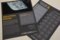 Modern Industrial Design Datasheet  Template