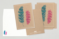 Colored Feathers General Greeting Card Template