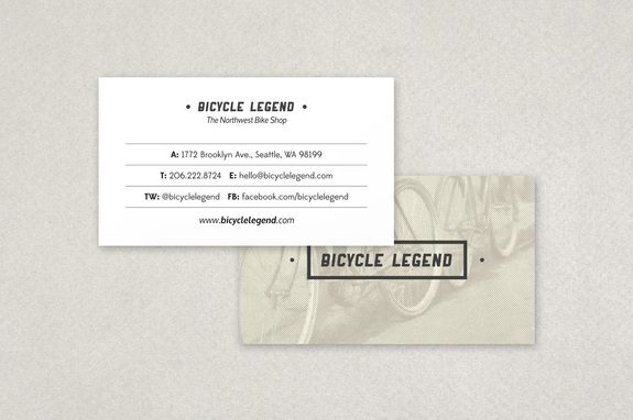 Bike Shop Business Card Template