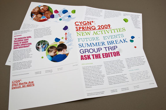 Contemporary Youth Group Newsletter Template