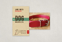Friendly Dog Walking Business Card Template