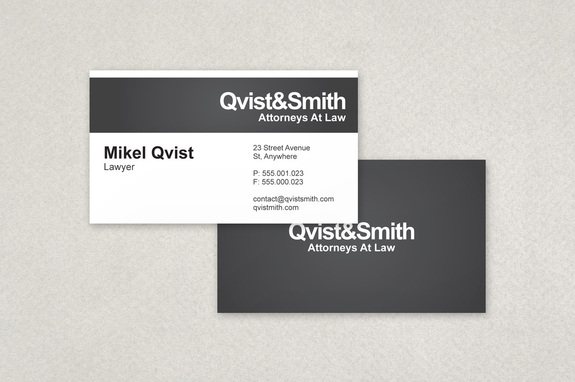 Contemporary Formal Business Card Template | Inkd