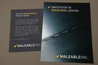 Modern Industrial Design Postcard  Template