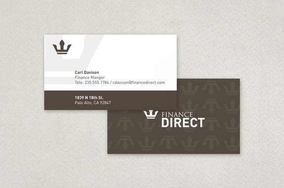 Finance Company Business Card Template Inkd