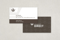Finance Company Business Card Template