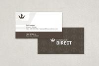 Finance Company Business Card Template