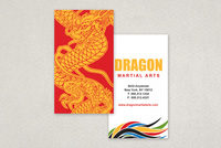 Martial Arts Academy Business Card Template
