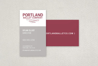 Contemporary Ballet Business Card Template
