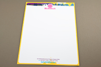 Retro Bike Rental Letterhead Template