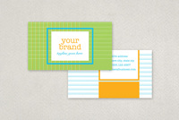 Stitched Grid Business Card Template