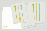 Stylish Arrows Greeting Card Template